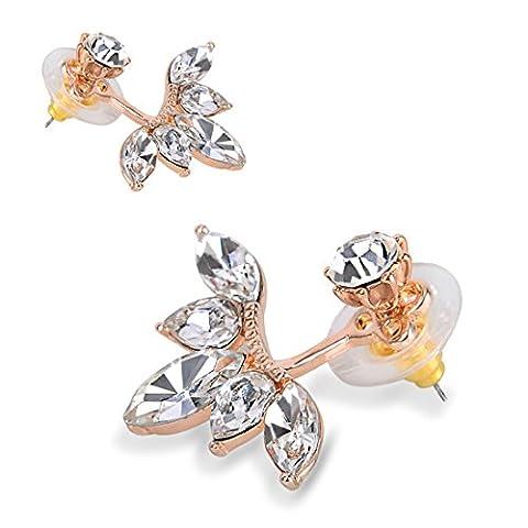 Leaf Ear Stud Earing (Rose Gold Plated)