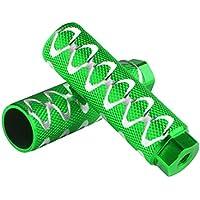 Andux Zone Aleación de Aluminio Clavijas de Bicicleta Antideslizante Ajustar Ejes de 3/8 Pulgadas ZXCHJT-01 (Verde)