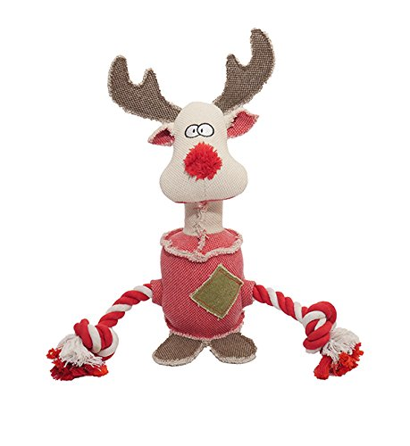 Rosewood Rocky The Twisty Tough Reindeer Dog Toy