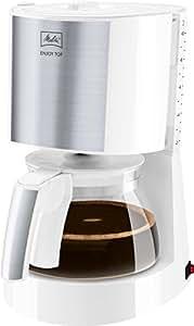 Melitta, Filterkaffeemaschine, Patentierter Aromaselector, Automatische Endabschaltung, Edelstahl/Weiß, ENJOY Top, 214464