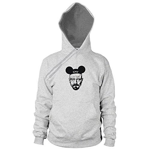 Mickey Walt - Herren Hooded Sweater, Größe: L, Farbe: grau meliert