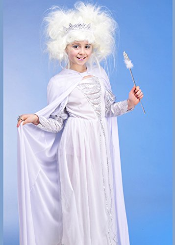 Kinder Kostüm Queen White - Magic Box Int. Kindergröße White Snow Queen Kostüm Large (9-11 Years)