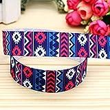 7/8' ' Aztec Printed Grosgrain Ribbon Headwear Hair Bow DIY Party Decoration Whole OEM 22mm B1321