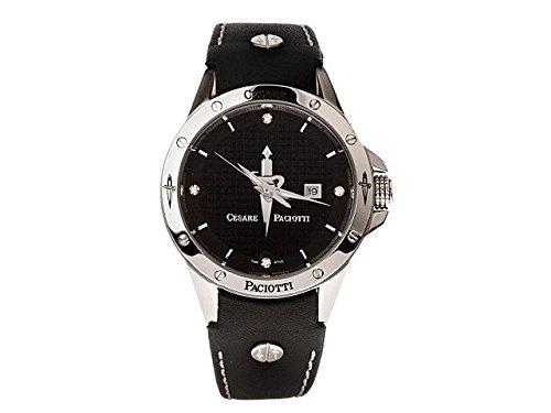 orologio-uomo-cesare-paciotti-tsst001-solo-tempo-quadrante-nero-cassa-acciaio-cinturino-pelle-nero