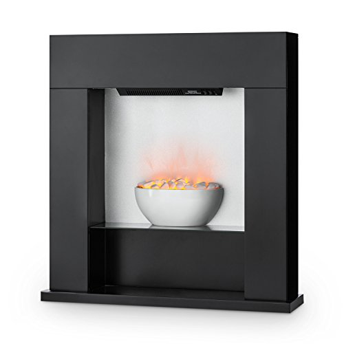 �� Elektrischer Kamin • Heizlüfter • Elektrokamin • Flammenillusion • unabhängig von Heizlüfter • 1000/2000 Watt • Lounge-Stil • LED-Beleuchtung • Überhitzungsschutz • schwarz ()