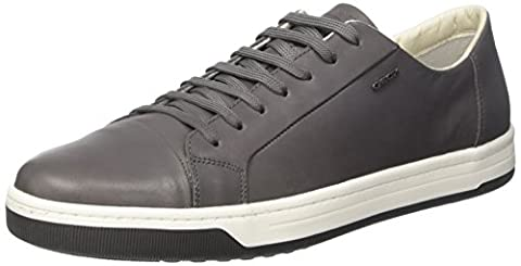 Geox Uomo Ricky A, Sneakers Basses Homme, Gris (Anthracitec9004), 45 EU