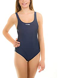 Aqua Speed Aga Mujer porciones Pro Back–Bañador de natación espalda deportes Tirantes, mujer, AGA / navy, 36