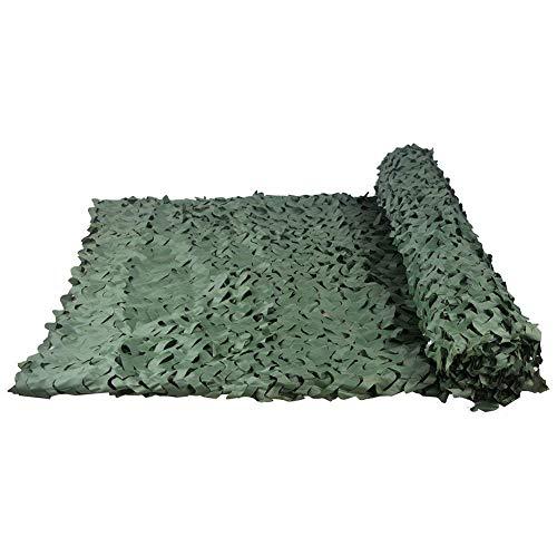 Terrassenmarkise 5mx3m Tarnnetz, grün Camo Netting, fügen Sie ein Verstärkungsnetz, geeignet für Army Shade Military Jagd Schießstand Camping im Freien verstecken überdachte Auto Garten Dekoration Ang -
