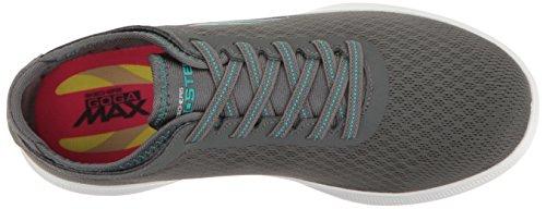 Skechers Go Step Lite-interstelllar, Sneaker Donna Charcoal / Teal Mesh
