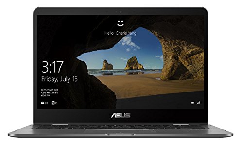 Asus Zenbook Flip 14 UX461UA 90NB0GG1-M00490 35,5 cm (14 Zoll FHD, Touch) Convertible Notebook (Intel Core i5-8250U, 8GB RAM, 256GB SSD, Intel UHD Graphics, Win 10 Home) grau