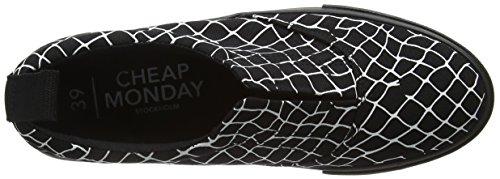 Cheap Monday Trip, Baskets Basses Mixte Adulte Noir - Black (Black 200)
