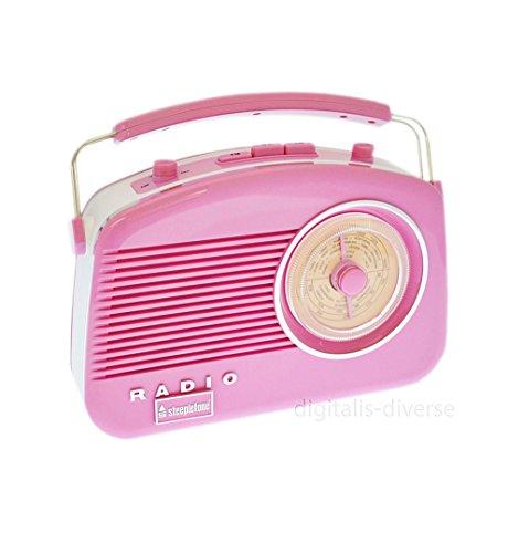 Steepletone Brighton Radio Style Vintage Shabby Chic rétro Radio-Rose