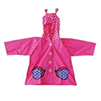 Funky PVC Kids Raincoats Cute Pink Butterfly 4-10 years- FREE DELIVERY