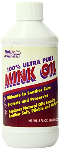 Blue Ribbon 100% Pure Mink Oil, 8 Fluid Ounce