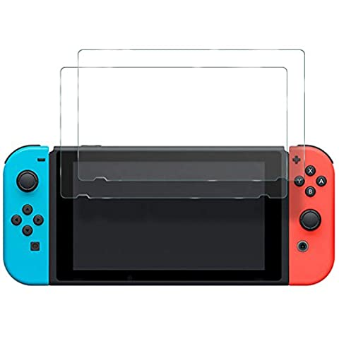 Mondpalast @ 2x Premium Screen Protector Tempered Glass scratchproof and ULTRA STRENGTH INDEX 9H Hardness High transparency for Nintendo Switch NINTENDO SWITCH nintendo switch