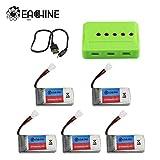 EACHINE E016H Drone Batterie Combinaison de 5 en 1 Batteries Paquet pour Mini Drone de bébé et Enfant
