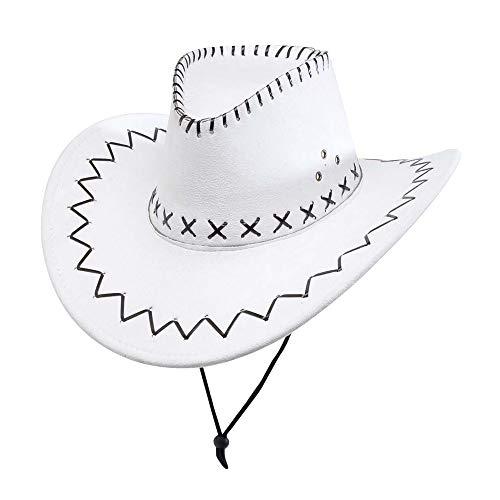 Kostüm Cowboy Für Erwachsene - WIDMANN 2897W Cowboyhut mit Nähten in Wildleder-Optik für Erwachsene, One Size