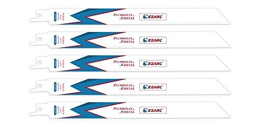 EZARC Hojas de sierra sable R922PM para Corte de metales 14TPI 225mm (pack de 5)