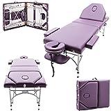 Massage Imperial® - tragbare Massageliege Caversham - leicht - Aluminium - 7 cm Schaum - Violett