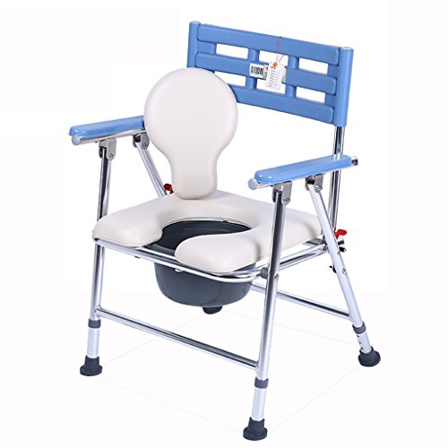MyAou-commode Commode Chaise Pliable En Aluminium Épaississement Renforcé Antidérapant Portable Femmes Enceintes Maison Baignoire Amovible