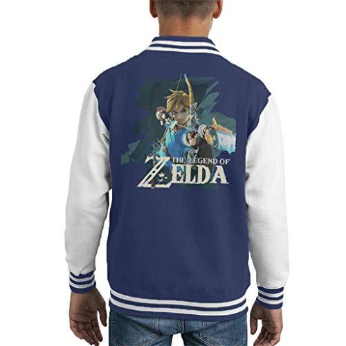 Zelda Breath of The Wild Link Bow and Arrow Kid's Varsity Jacket