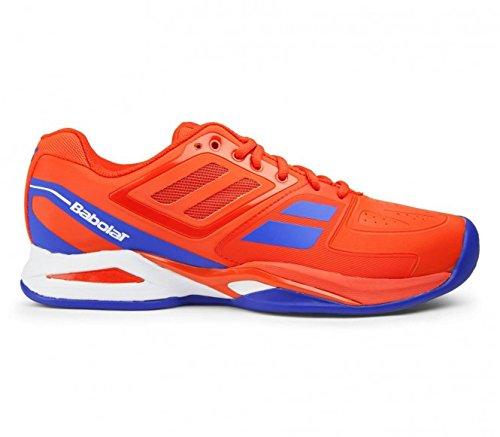 Babolat - Propulse Team Clay Chaussures de tennis pour hommes (rouge/bleu) - EU 44 - UK 9,5