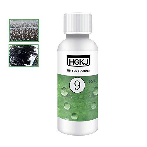 Kobwa Autolackschutz, 9H Härte, flüssige keramische Beschichtung, stark wasserabweisendes Glasbeschichtungs-Set, Nano-Hydrophobe Beschichtung, Autopflege-Zubehör Plating agent