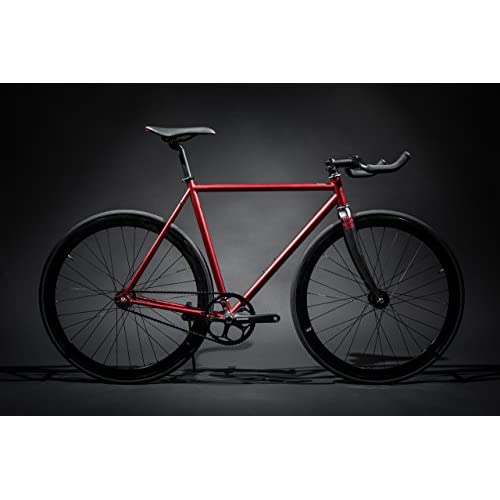 41O8NNiANeL. SS500  - State Bicycle Unisex's Contender Premium Fixed Gear Bike-Red, 52 cm