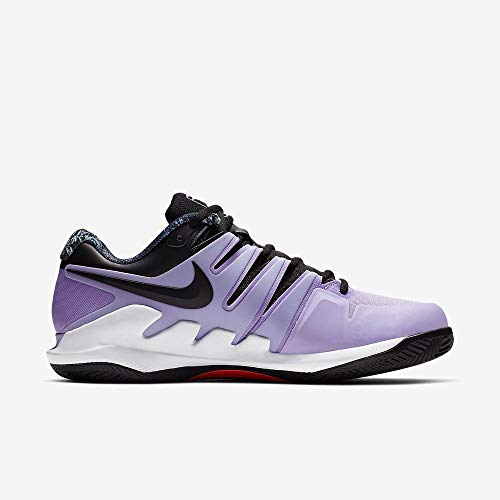 Nike W Air Zoom Vapor X Cly, Scarpe da Tennis Donna, Multicolore (Purple Agate/Black/White/Hyper Crimson 500), 35.5 EU