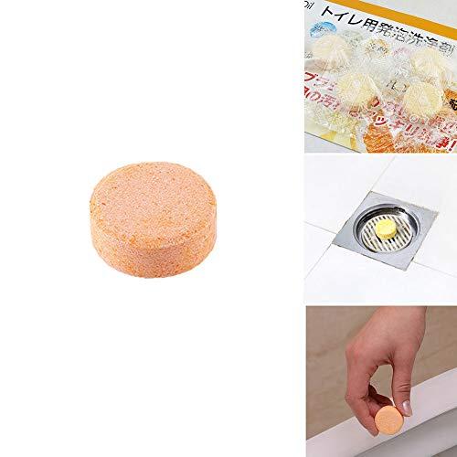 Zooarts 4PCS 2018 New Toiletten Reiniger Deodorant Freshener Effervescent Tabletten (Orange) -