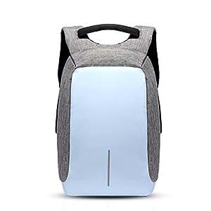 FANDARE 2017 Antifurto Zaino della Scuola Notebook Portatile Laptop 14 Pollici Schoolbag Viaggio Borsa USB Port Polyester Azzurro