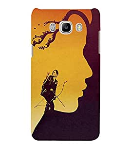 FUSON Woman Archer Against Storm 3D Hard Polycarbonate Designer Back Case Cover for Samsung Galaxy J7 (6) 2016 :: Samsung Galaxy J7 2016 Duos :: Samsung Galaxy J7 2016 J710F J710Fn J710M J710H