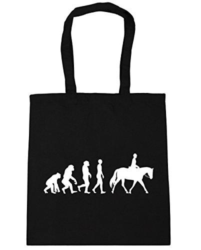 HippoWarehouse ,  Damen Strandtasche, schwarz (schwarz) - 21422-TOTE-Black Equestrian Grooming Tote