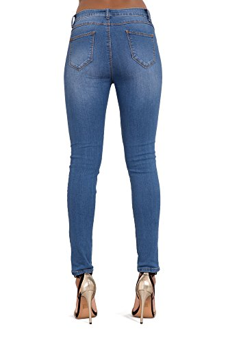 Glook -  Jeans  - Donna Ripped blue jeans