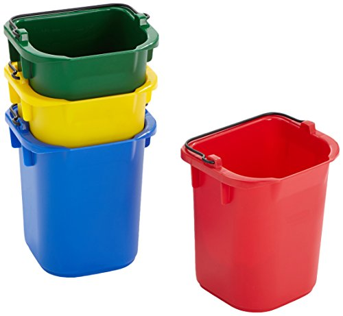 Rubbermaid 5qt Disinfectant Pail - Red/Yellow/Blue/Green Test