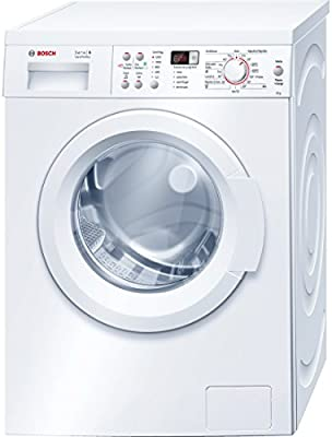 Bosch Serie 6 VarioPerfect Independiente Carga frontal 8kg 1200RPM A+++ Color blanco - Lavadora (Independiente, Carga frontal, Color blanco, LED, Izquierda, Acero inoxidable)