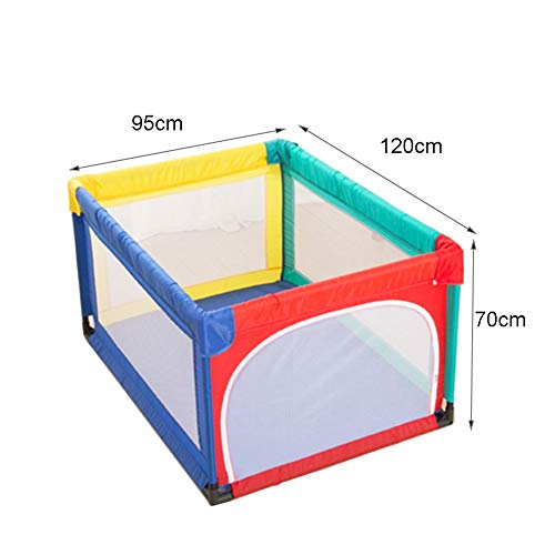 Playpens Small Safety, Indoor Outdoor Playyard for Toddler/Boy/Girl, Safety Activity Centre Protective Fence, 95×120×70cm  MMDP