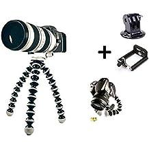 Theoutlettablet® Trípode pod para camaras de fotos, camaras acción deportivas (Gopro, SJCAM etc), smartphone, videocámaras, camaras réflex y Compactas + adaptadores
