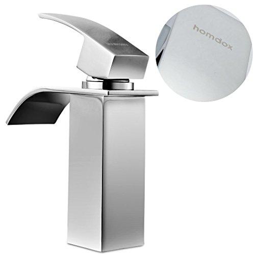 Homdox Design Einhebel Wasserhahn Waschtischarmatur für Badezimmer Waschbecken - 2