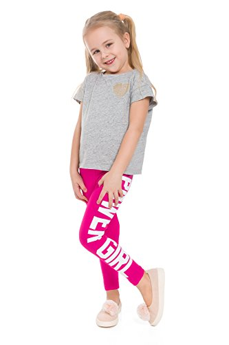 Futuro Fashion Children Cotton Girls Leggings Print POWER GIRL Full Length Kids Printed Pants Age 5 -13 Dance Party Stretchy Trousers CHPWG
