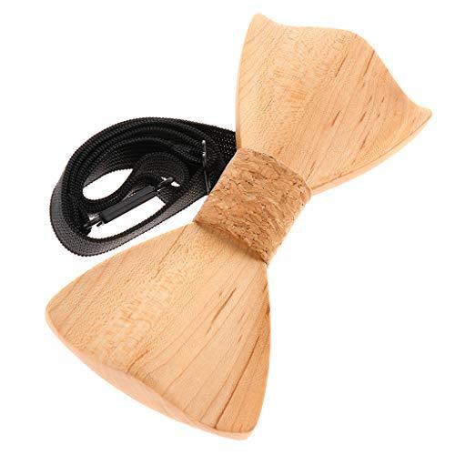 Familie Kreative Kostüm - FLAMEER Kreative Fliege Bowtie Schleife Bowknot Kostüm Zubehör, Geschenk für Freunde und Familien, aus Holz - M117-052