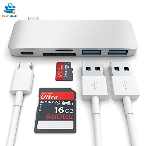 USB 3.1 Type C Hub For Macbook Pro 2016/2017 Touch Bar And Without Touch Bar, Macbook 12-Inch, (USB 3.0) 5 In 1 Combo Hub Includes 1 SD Memory Port, 1 Micro-Sd Memory Port Card Reader And Charging Port – Computer Accessories / USB Hubs~ High Speed Transfers
