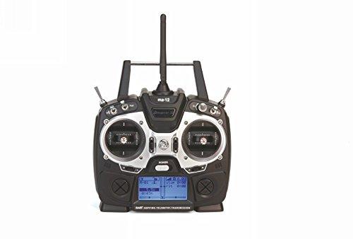 Preisvergleich Produktbild Graupner S1002.G1.DE - Fernsteuerung mz-12 HoTT 6 Kanal mit GR-18, schwarz