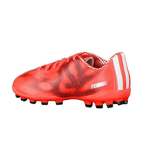 Adidas F10 Ag J, Football unisex Red/Wht/Blk