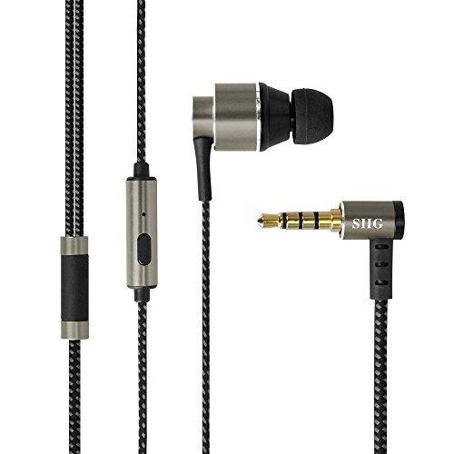 Siig Haute Résolution Bass-Enhanced tissé Braid Écouteurs avec Micro omnidirectionnel–Gris Gris