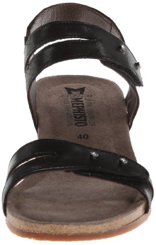 Mephisto Womens Minoa Leather Sandals Black