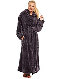 Ladies Womens Fleece Dressing Gown Ex Rosie For Autograph Marks and Spencer Grey Red Pink Size UK 8 10 12 14 16 18 20 22