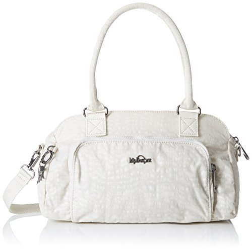 Kipling - Alecto, Bolsos baguette Mujer, Weiß (White Garden), One Size