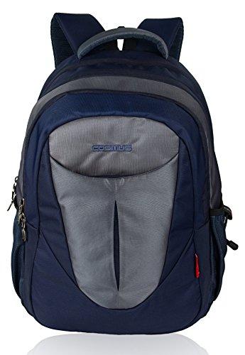 Cosmus Eden Laptop Backpack for 15.6 Inch Laptop (Navy Blue & Grey)