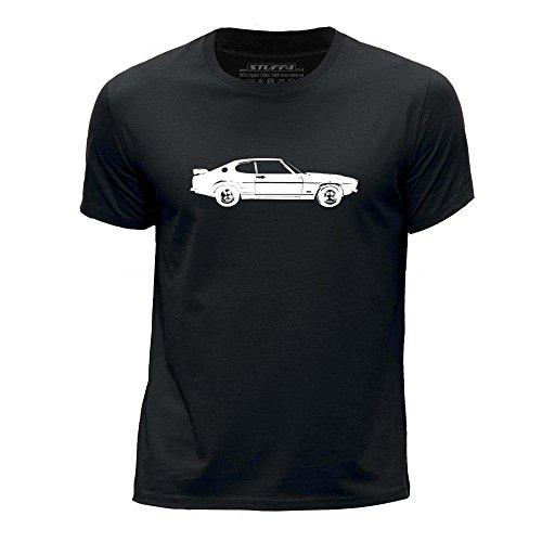 STUFF4 Jungen/Alter 9-11 (134-146cm)/Schwarz/Rundhals T-Shirt/Schablone Auto-Kunst / Capri RS2600 (Ford-kinder-t-shirt)
